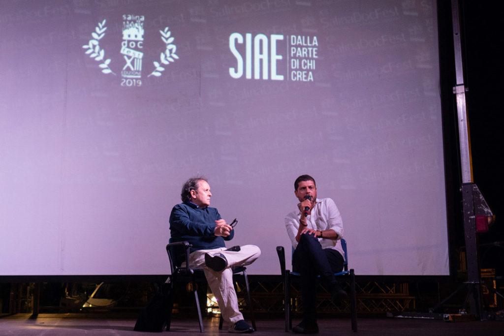 Claudio-Giovannesi-Enrico-Magrelli-Premio-Siae-SalinaDocFest-2019