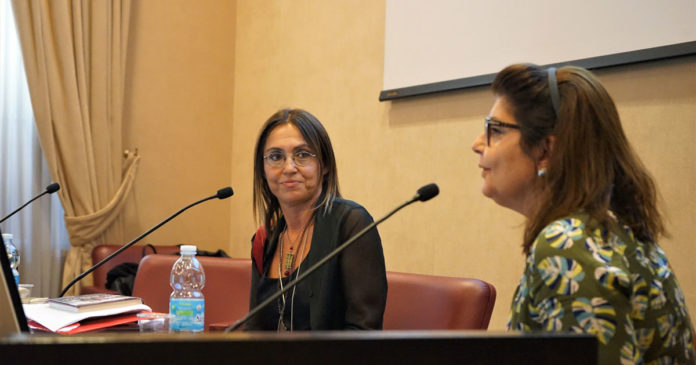 Giovanna Taviani e Silvia Scola Conferenza Stampa Banca del Fucino