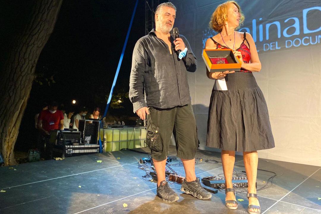 Premio Signum a Il Caso Braibanti. I registi Massimiliano Palmese e Carmen Giardina.