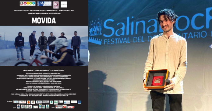 Alessandro Padovani vincitore del Tasca D'Oro al SalinaDocFest XIV